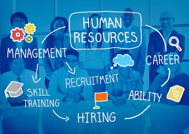 Recrutador de contratação de recursos humanos selecione o conceito de carreira