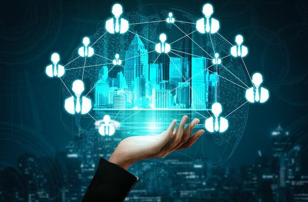 Recrutamento de recursos humanos e conceito de rede de pessoas.