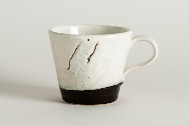 Recurso de design de caneca de café branco rústico