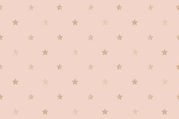 Recurso de design de fundo de estrelas douradas brilhantes sem emenda