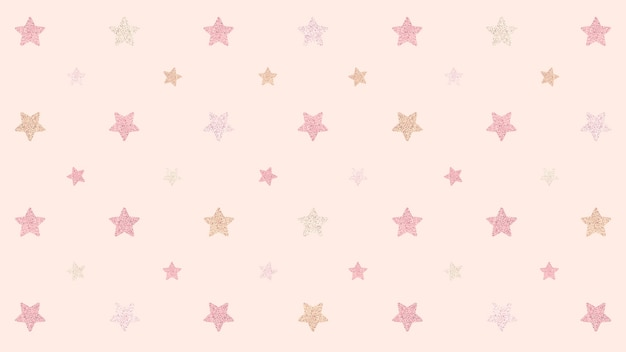 Recurso de design de fundo de estrelas rosa cintilante sem emenda