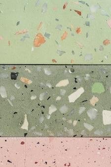 Recurso de design de textura de superfície de telha terrazzo