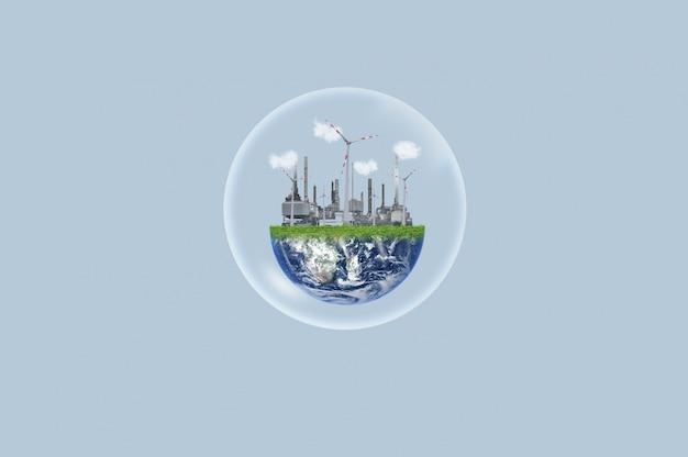 Recursos ecológicos e conceito de energia limpa. o elemento desta imagem é fornecido pela nasa
