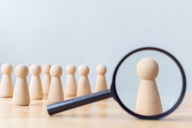Recursos humanos, gestão de talentos, empregado de recrutamento, líder de equipe de negócios bem sucedido