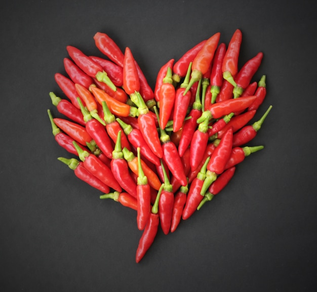 Red hot chiles peppers heart