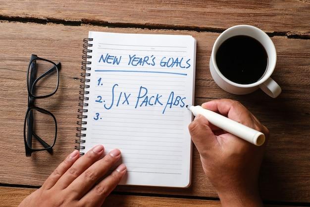 Redação e preparação para as resoluções de ano novo de 2021