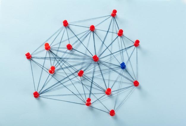 Rede com pinos