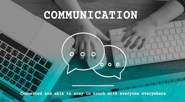 Rede de comunicação de bolha de discurso de bate-papo