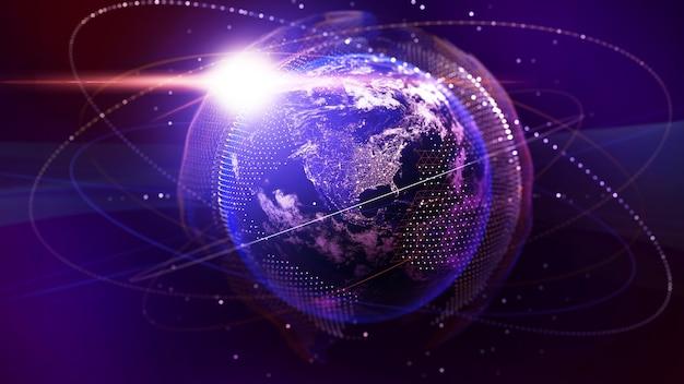Rede de comunicação de imagem rede imagem computador ciência conexão ao sistema científico