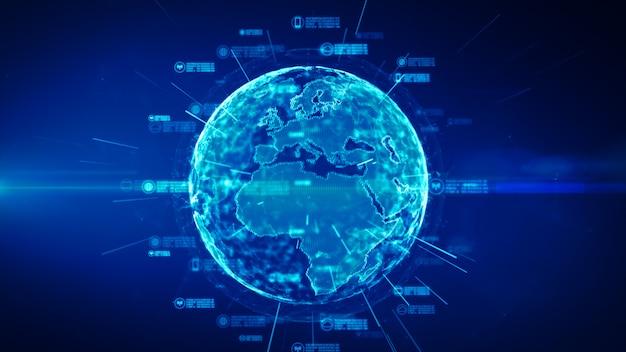 Rede de dados segura. segurança cibernética e proteção do conceito de dados pessoais