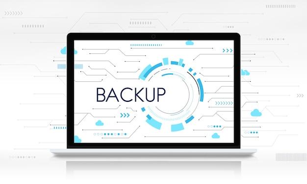 Rede de download de backup em nuvem