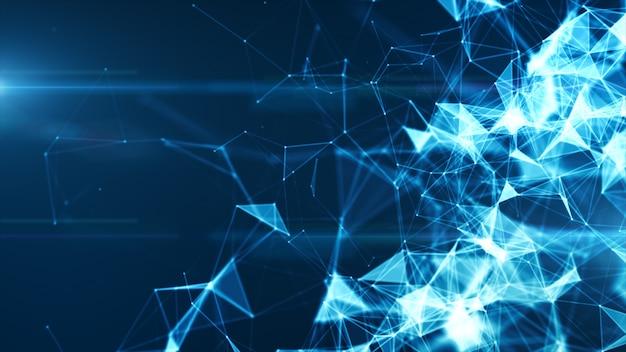 Rede de internet digital conectada