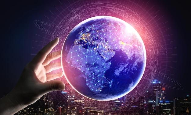 Rede de internet sem fio de tecnologia de comunicação 5g para o crescimento global dos negócios