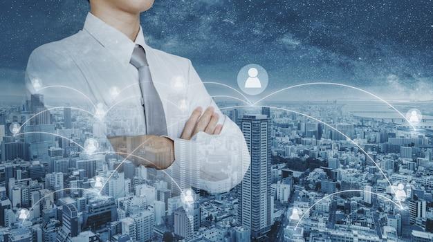 Rede de negócios e gestão de recursos humanos de rh