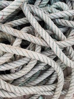 Rede de pesca no porto