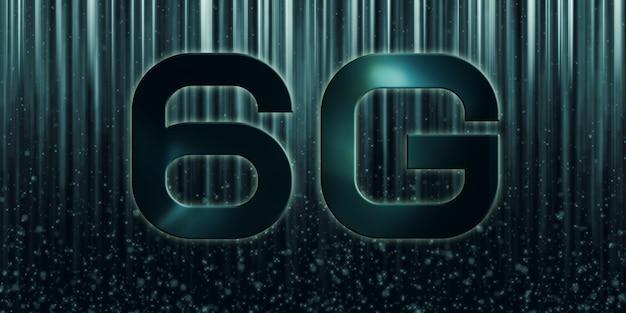 Rede de tecnologia 6g, internet móvel de alta velocidade conceito de comunicação e transmissão de informação moderna