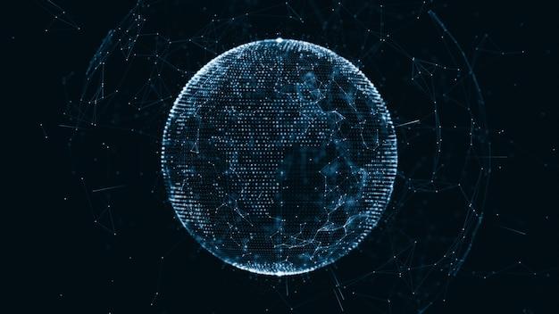 Rede global crescente e conexões de dados
