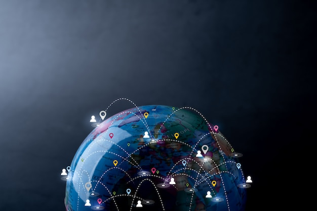 Rede global de tecnologia e futuro