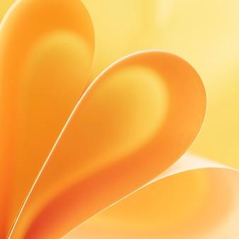 Redemoinhos abstratos de papéis amarelos