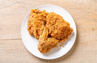 Refeição de frango frito
