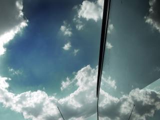 Reflexão nublado