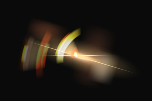 Reflexo de lente dourado com elemento de design espectro fantasma
