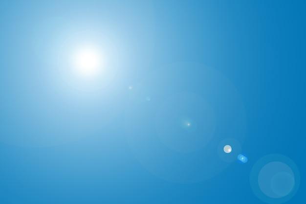 Reflexo de lente no céu azul