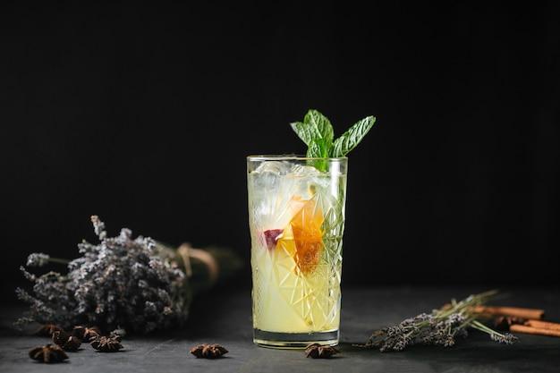 Refrescante frutas limonada coquetéis hortelã