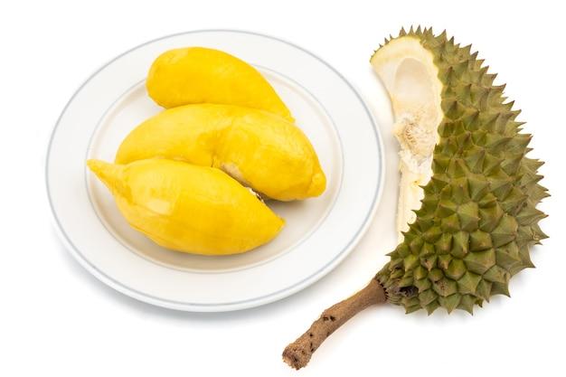 Rei das frutas, durian em fundo branco