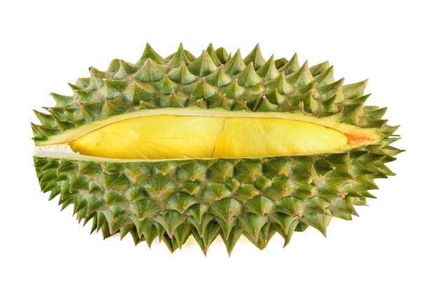 Rei das frutas. durian isolado em fundo branco
