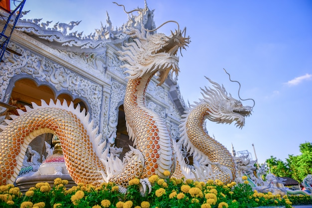 Rei dos nagas no templo tailândia