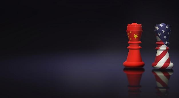 Rei xadrez china vs rei xadrez américa