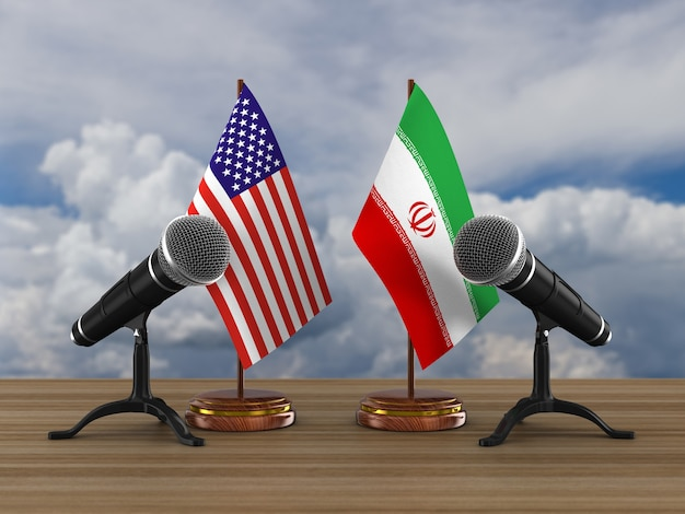 Relação entre a américa e o irã em branco