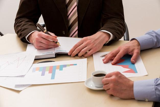 Relatório financeiro da diretoria contando os lucros