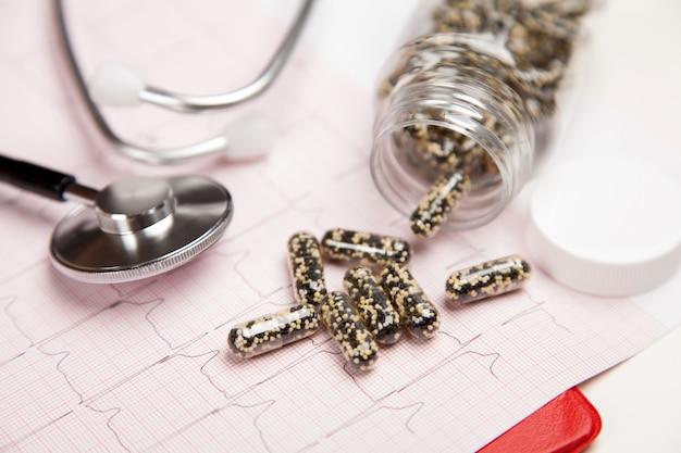 Relatório médico e cardiograma