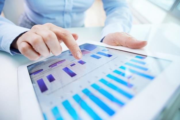 Relatórios de negócio close-up
