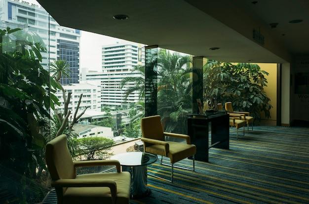 Relaxe a área no hotel