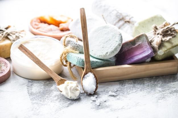 Relaxe a composição do spa