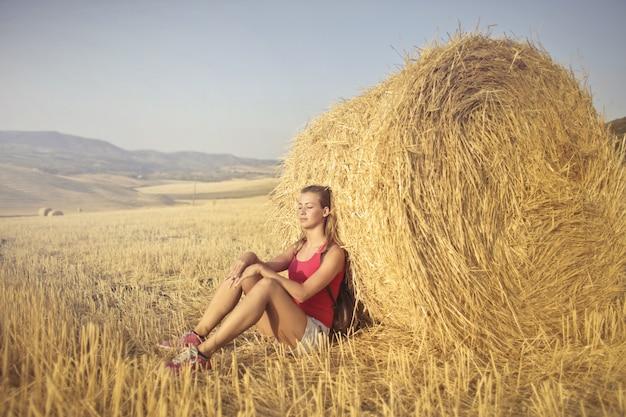 Relaxe no campo
