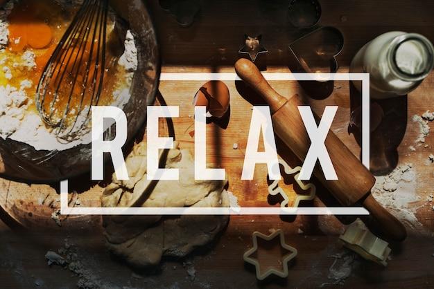 Relaxe o conceito frio da serenidade do resto da recreação