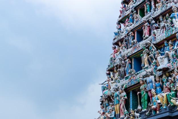 Religião hindu do templo de sri mariamman na cidade de singapura china