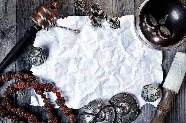 Religião objetos étnicos para meditação e relaxamento