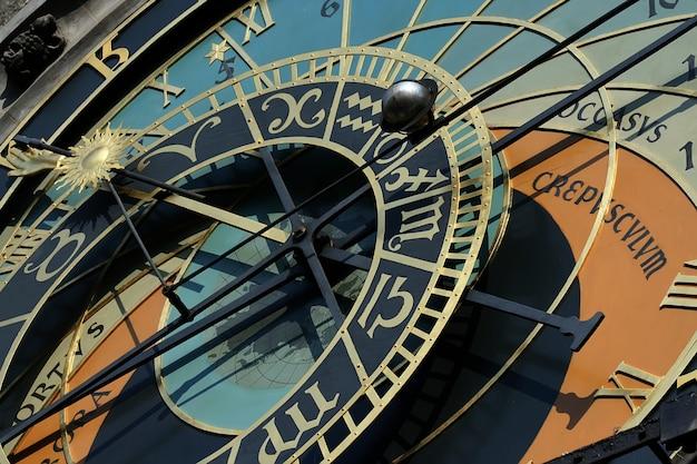 Relógio astrológico na torre