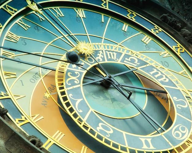 Relógio astronômico de orloj em praga na república checa