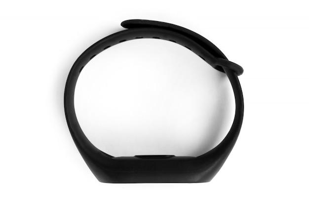 Relógio de pulseira preta de fitness