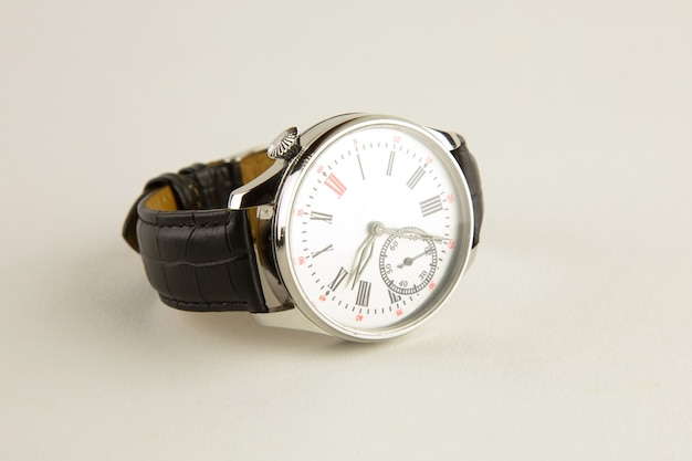 Relógio de pulso masculino de luxo cinza