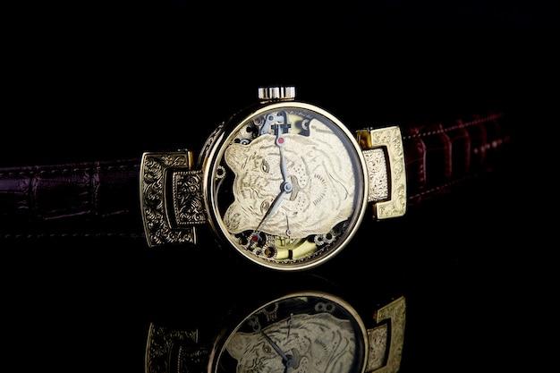 Relógio de pulso masculino de luxo preto