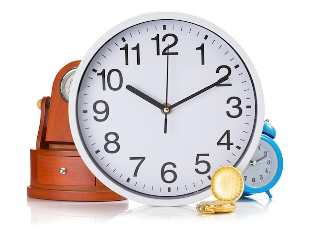 Relógio definido isolado