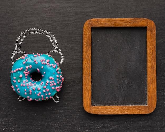 Relógio desenhar com donut