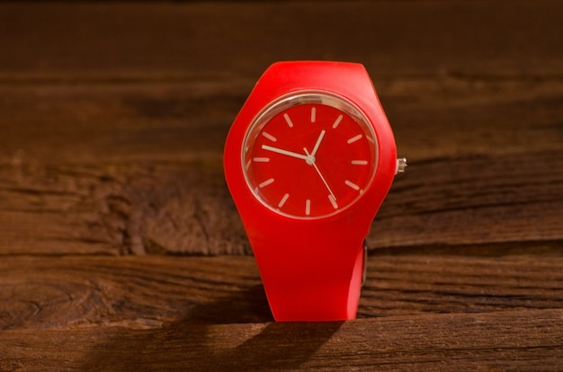 Relógio esporte vermelho